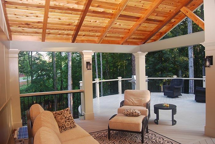 open air gabled porch interior